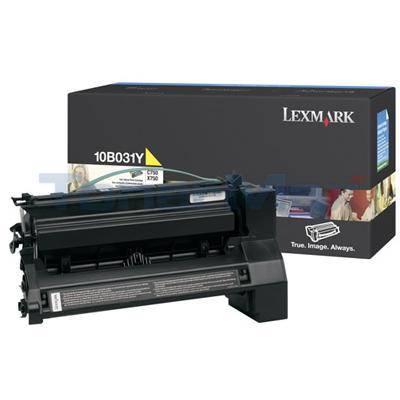 LEXMARK C750 PRINT CART YELLOW